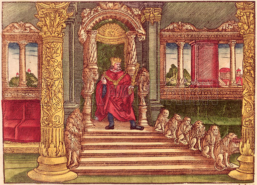 king solomon   throne